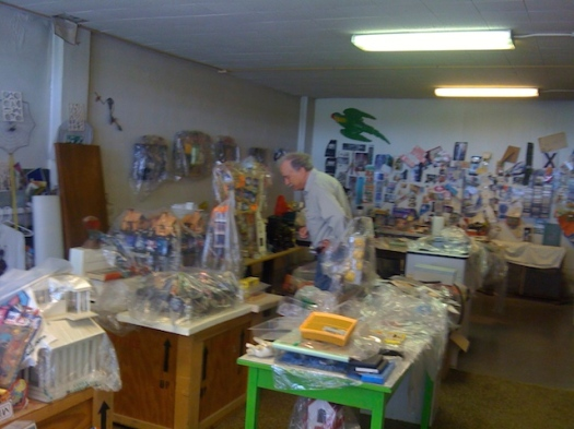 Tom Barrow in his Studio, 2009