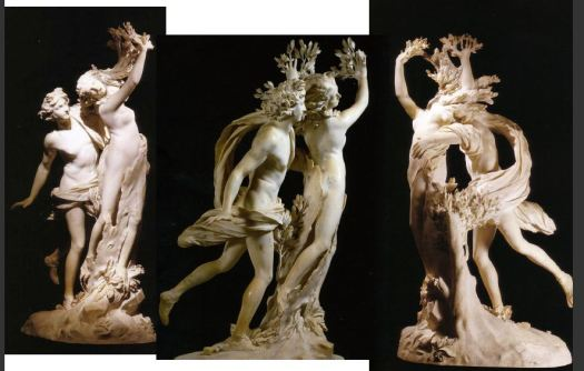 Apollo and Daphne by  Gian Lorenzo Bernini, 1622-1625. Galleria Borghese, Rome