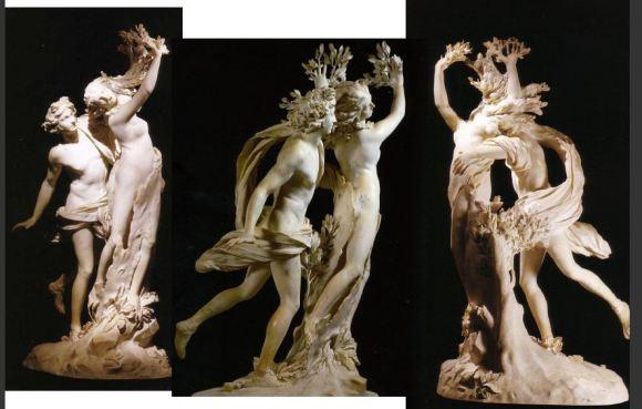 Apollo and Daphne by  Gian Lorenzo Bernini, 1622-1625. Galleria Borghese, Rome