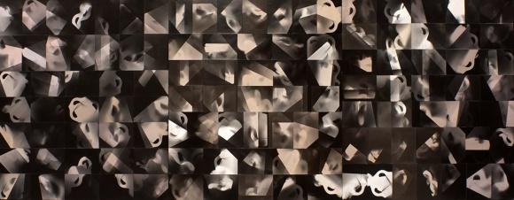 "David Ondrik, Constellation, unique gelatin silver prints, 39"" x 105"", 2016"
