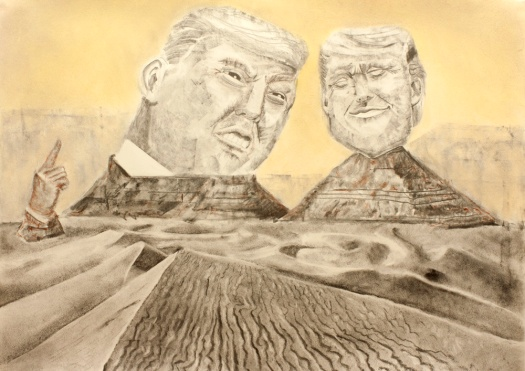 """Valley of the God, 2024,"" graphite, charcoal, pastel on paper, 19.5"" x 27"", 2016 David Ondrik"