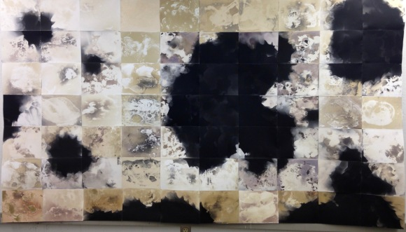 """Untitled"", 56"" x 100"", unique gelatin silver photogram, 2016, David Ondrik"