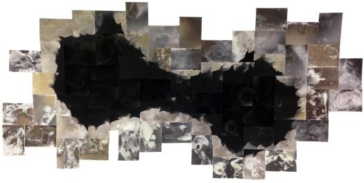 """We Filled the Gaps With Fear,"" 38"" x 68"", unique gelatin silver prints, 2016, David Ondrik"
