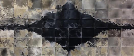"""Smoke Gets In Your Eyes,"" 48"" x 100"", unique gelatin silver prints, 2016, David Ondrik"