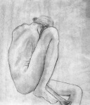 "Grace H., Figure Drawing, charcoal on paper, 18"" x 24"""