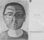 "Sheldon L., charcoal on paper, 18"" x 24"""