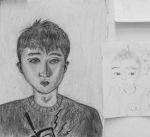 "Xingyu W., charcoal on paper, 18"" x 24"""