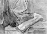 "Helen T., Planar Analysis, charcoal on paper, 18"" x 24"""