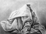"Olivia R., Planar Analysis, charcoal on paper, 18"" x 24"""