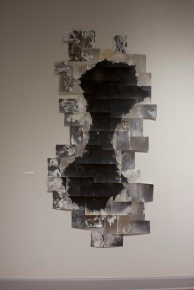 """Untitled,"" unique unfixed gelatin silver prints, 68″ x 38″ 2016, David Ondrik"