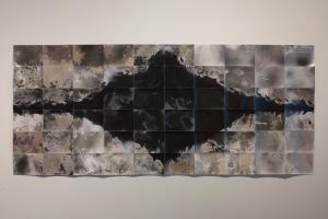 """Untitled,"" unique unfixed gelatin silver prints, 30″ x 70″, 2016, David Ondrik"