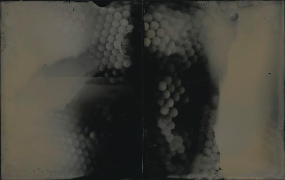 """Origins, unique tintype photogram, 5"""" x 8"""", 2017, David Ondrik"""