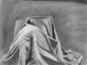 Austin G, Fabric Studies, Charcoal, 2017