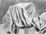 Henry S, Fabric Studies, Charcoal, 2017