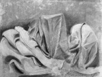 Kaci T, Fabric Studies, Charcoal, 2017