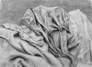 Naphtalia R, Fabric Studies, Charcoal, 2017