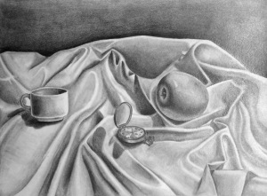 Dhaval T, Still Life, Pencil & Charcoal, 2017