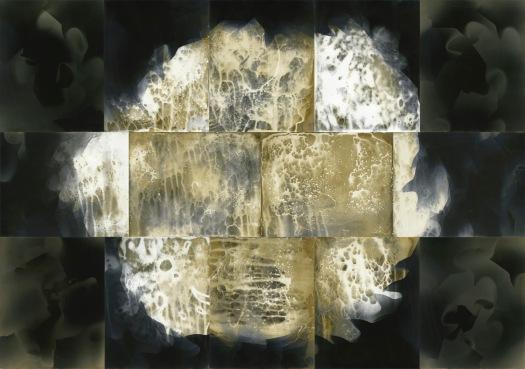 """Genesis,"" unique unfixed gelatin silver prints, 28"" x 40"", 2017, David Ondrik, (private collection)"