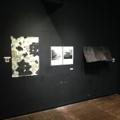 Installation next to artworks by Tracy Tempelton and Osamu James Nakagawa