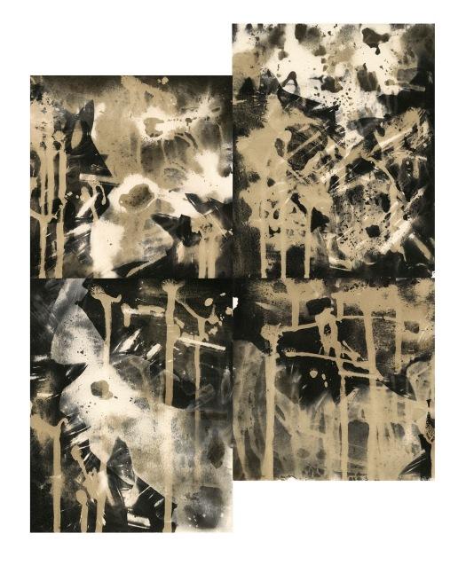 """Bullets, unique gelatin silver prints, 18"""" x 16"""", 2020"""