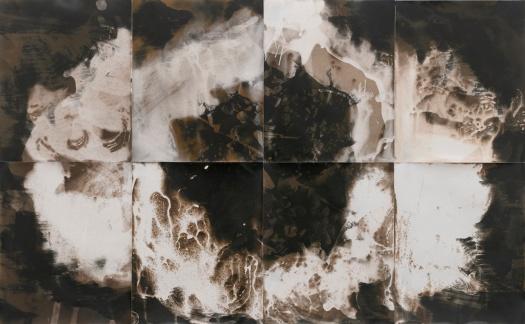 """Mistakes Built to Last, 2021, unique gelatin silver prints, 20"""" x 32"""""""